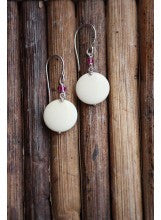 Domed Mammoth Ivory Earrings