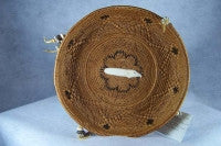 Smoked Grass Baskets,Eagle with Feather