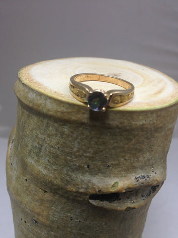 Northern Lights gold nugget ring