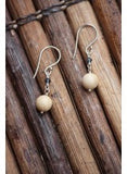 Mammoth Ivory Ball Earrings