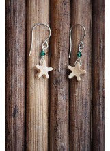 Sea Star Mammoth Ivory Earrings