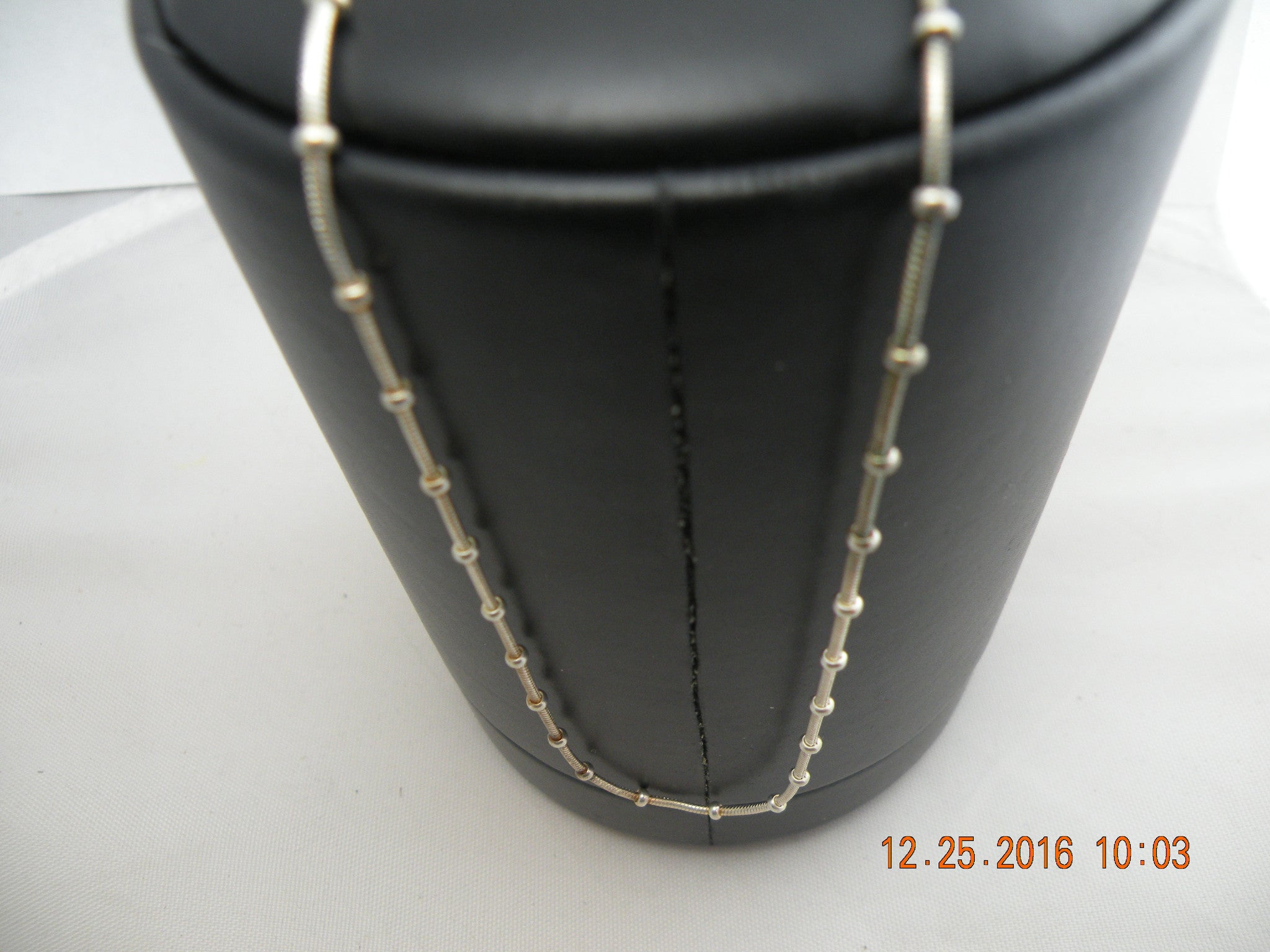 "Chains Sterling Silver 18"" with balls"