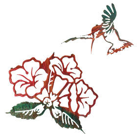 Trumpet Creeper with Hummingbird 2 Piece Set