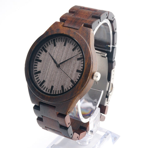 Luxury  Men Watches  with Wooden Band C-VO1A