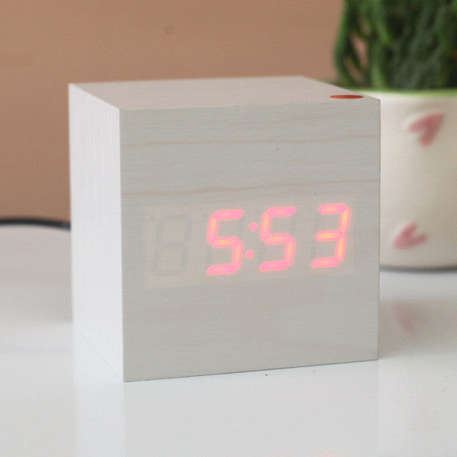 Digital vintage clock LED Retro table personalized  gift small electronic clock