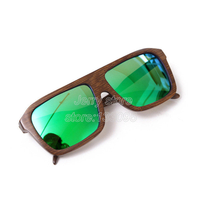 Polarized sunglasses wooden bamboo handmade with box
