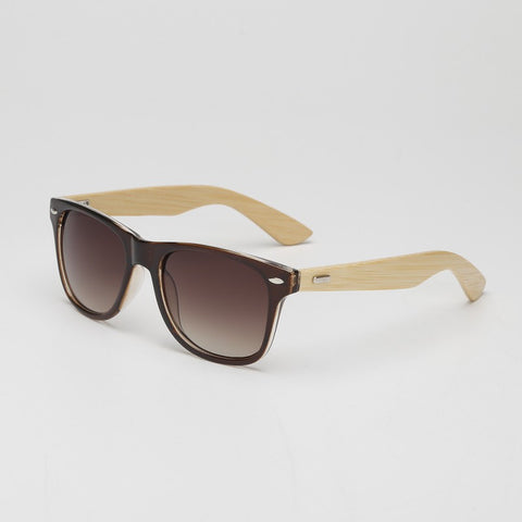 Fashion Men Bamboo Sunglasses Wooden Temple Piece