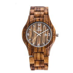 Hot  Fashion Men Bamboo Quartz  Watches