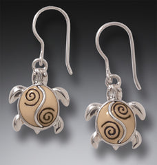 baby turtle earrings