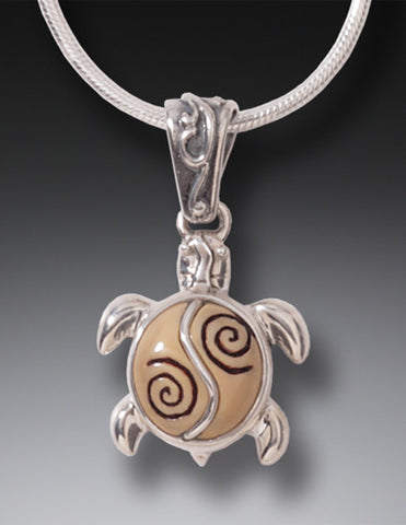 baby turtle necklace/pendant