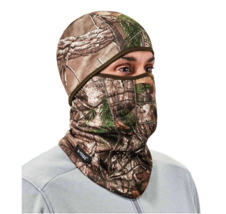 The N-Ferno® 6823 Wind-Proof Hinged Balaclava Face Mask delivers the cold-blocking protection of a full face mask but can also be worn as a neck gaiter or face shield.