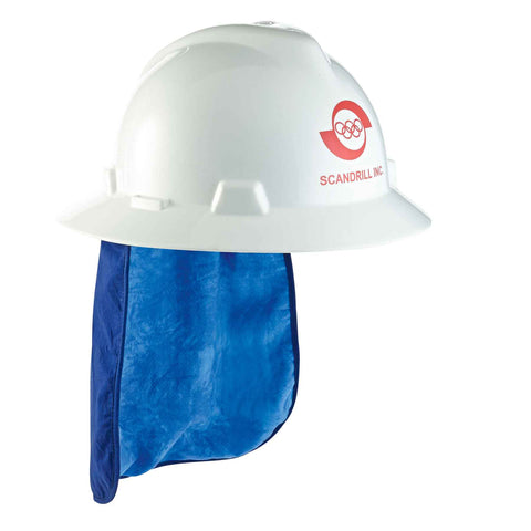 Chill-Its 6717CT Evaporative Cooling Hard Hat Neck Shade w/ Cooling Towel