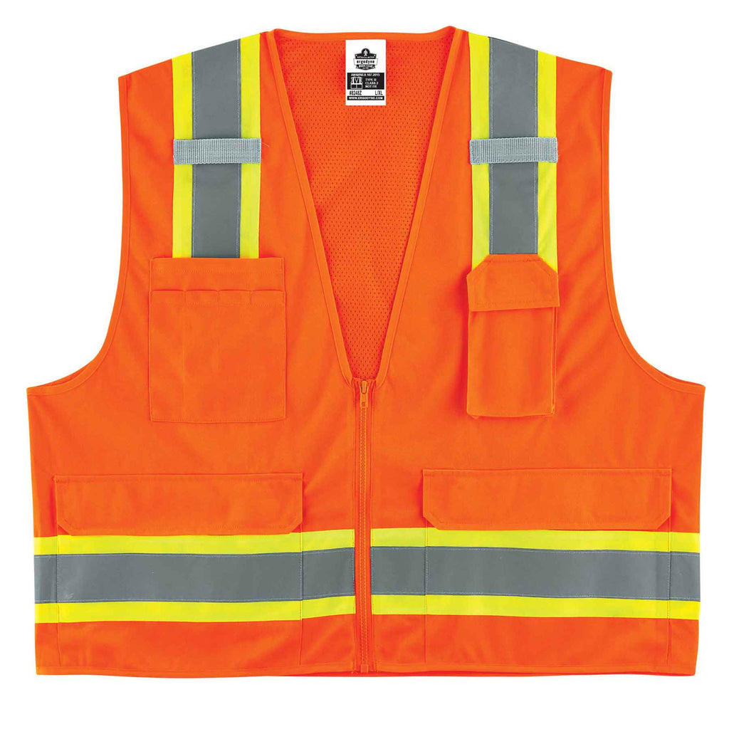 GloWear 8248Z Type R Class 2 Two-Tone Surveyors Vest