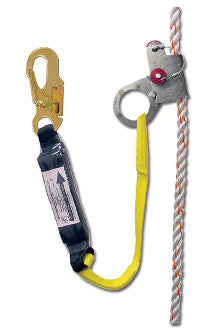 1202A-3 - 1201 with 3' shock absorbing web lanyard attached, locking snap hook on end