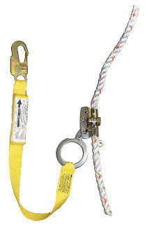 1202AN-3 - 1201N with 3' shock absorbing web lanyard attached, locking snap hook on end