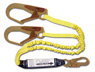 444AS - 6 ft Dual Leg Stretch Style Shock Absorbing Lanyard