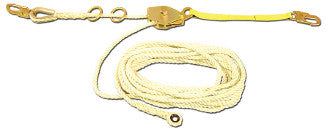 RHL-60- 60 ft Temporary Rope Horizontal Lifeline