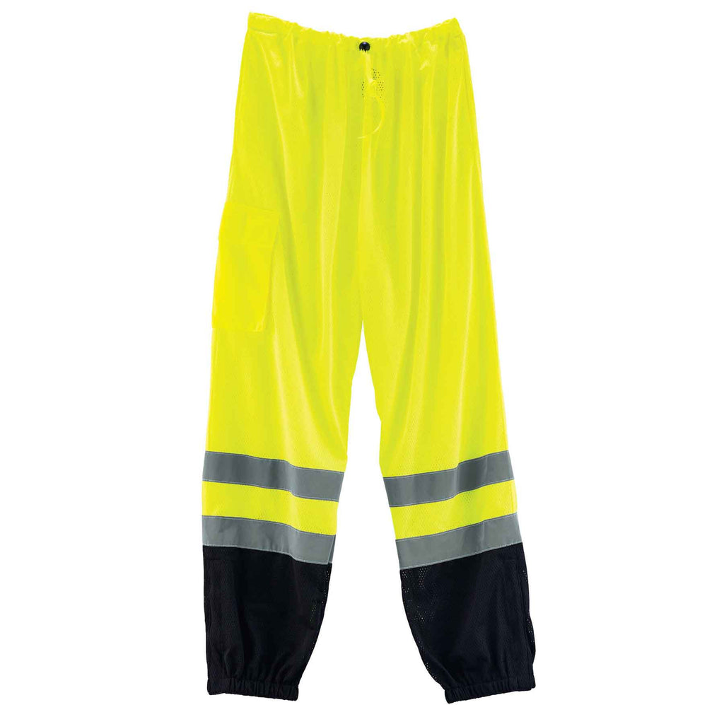 GloWear  8910BK Supplemental Class E Black Bottom Hi-Vis Pants