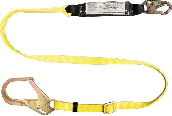 454AB - 6 ft Adjustable Shock Absorbing Web Lanyard