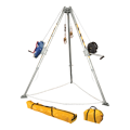 Falltech 7509 Tripod Kit with 7276 Tripod; 7293 Winch; 7281 3-way Retrieval SRL; 2 x 7291B Leg Brackets, and Storage Bags