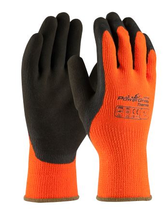 VIP 41-1400 POWERGRAB™ THERMO HI-VIS SEAMLESS KNIT ACRYLIC TERRY GLOVE WITH LATEX MICROFINISH® GRIP