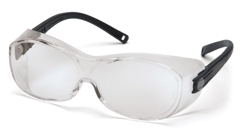 OTS - Clear Lens with Black Temples (Qty 12)