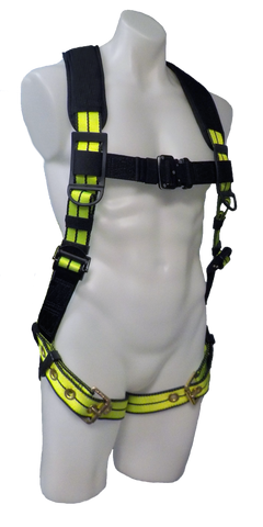 FS-FLEX185 - No-Tangle Single D-Ring Harness with Grommet Leg Straps & Back Pad