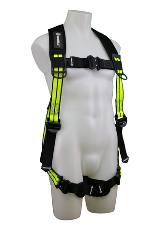 FS-FLEX250 - No-Tangle Single D-Ring Harness with Cool-Air Leg Pads