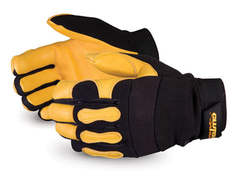 Clutch Gear® Winter Lined Deerskin Mechanics Gloves (1 doz)