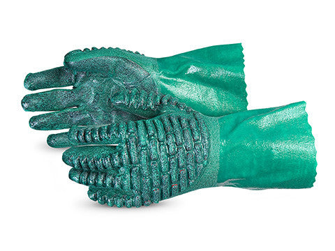 Chemstop™ Nitrile Gloves with Crushed Ceramic-Powder Grip Finish... (1 doz)