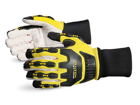 Clutch Gear Impact Protection Oilfield Glove with Kevlar-Reinforced Thumb Crotch (1 doz)