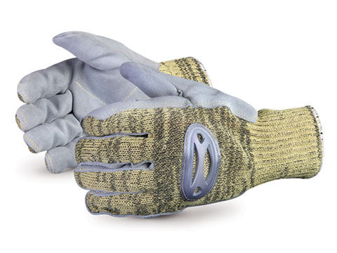 Action™ Kevlar®/Wire-Core™ Glove with Steel-Mesh Liner and Leather Palms (sold individually)