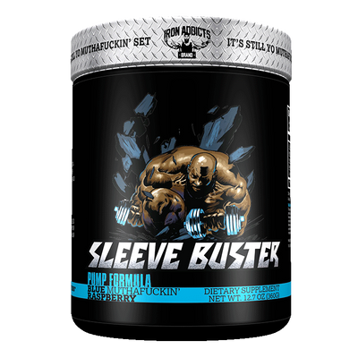 Iron Addicts Sleeve Buster Non Stim Pump Formula Blue Raspberry