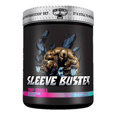 Iron Addicts Sleeve Buster Non Stim Pump Formula Cotton Candy