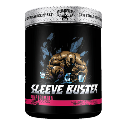 Iron Addicts Sleeve Buster Non Stim Pump Formula Fruit Punch