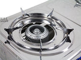 Double Head Propane Gas Burner Portable Camping Outdoor Stove Camping Stainless
