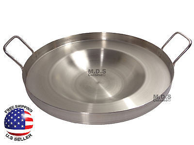 "16"" Comal Stainless Steel Concave Frying Gas Stove Outdoors Heavy Duty Acero NEW"