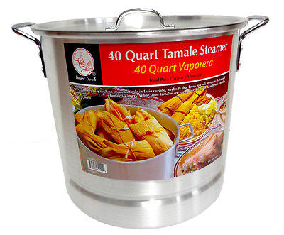 40 Qt Tamale Steamer Vaporera Stock pot Premium Aluminum 10 Gallons Fry Pan NEW