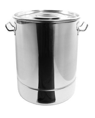 30Qt Stainless Steel Stock Pot Steamer Vaporera Tamalera 7.5 Gallons Acero NEW