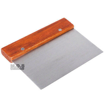 Chopper Scraper Dough Cutter Stainless Steel Griddle Tools Wood Handle Spatula