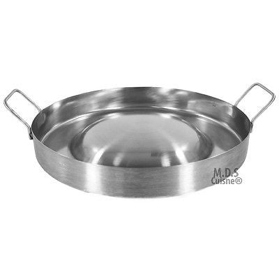 "Stainless Steel Comal Convex 16"" Round Cook Griddle Taco Grill Pan Heavy Duty"