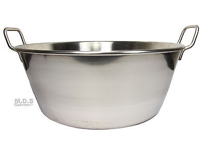 "Cazo Para Carnitas 16"" Stainless Steel Heavy Duty Acero Inoxidable Wok comal Fry"