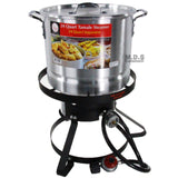 StockPot Set w/ Burner & Stand Vaporera Tamalera Steamer Pot Olla Tamale