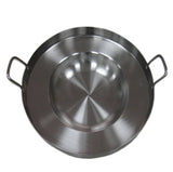 "Comal Stainless Steel 21"" Acero Inoxidable Convex Bola Tacos Outdoors Stir Fry Heavy Duty"