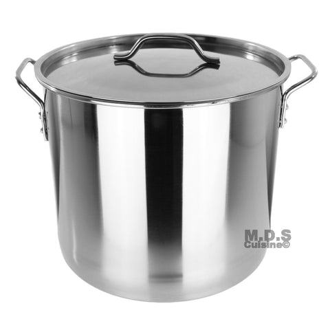 Stock Pot Stainless Steel 32 QT Steamer Brew Vaporera Tamalera Tamales New 8Gal