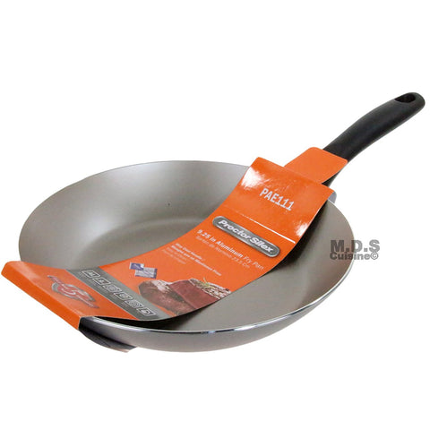 "Fry Pan Non-Stick 9"" Teflon Metallic Silver Aluminum Stay Cool Handle Skillet"