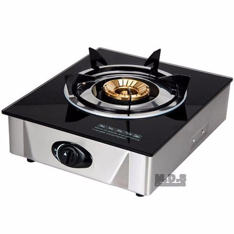 Glass Top Gas Burner Portable Propane Stove Single Burner With Low Pressure  Regulator For Tailgate Camping