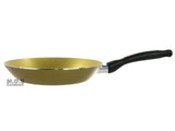 "Fry Pan Non Stick 9"" Inch Teflon Golden Aluminum Stay Cool Handle Skillet"