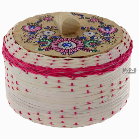 Tortilla Warmer Tortillero de Mimbre/ Wicker Tortilla Warmer with inner styrofoam