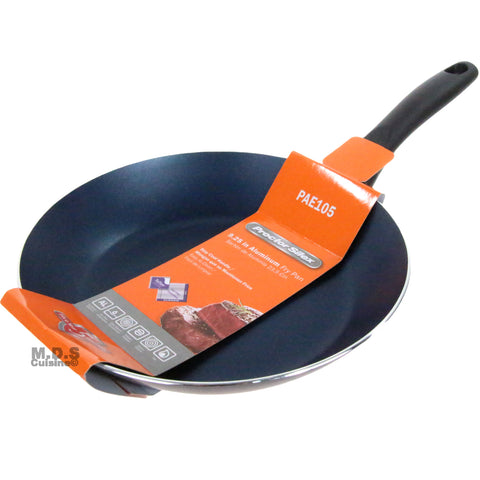 "Fry Pan Non Stick 9"" Inch Teflon Metallic Blue Aluminum Stay Cool Handle Skillet"